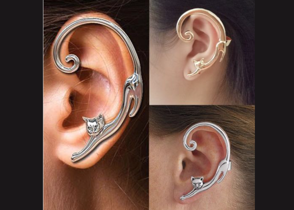 Cat Stretch Ear Cuff