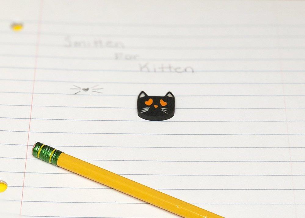 I Love Kitten Eraser Black