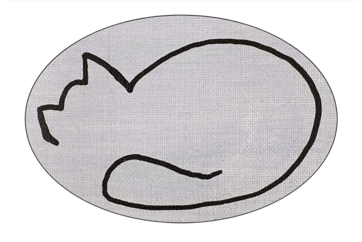 Abstract Cat Sticker
