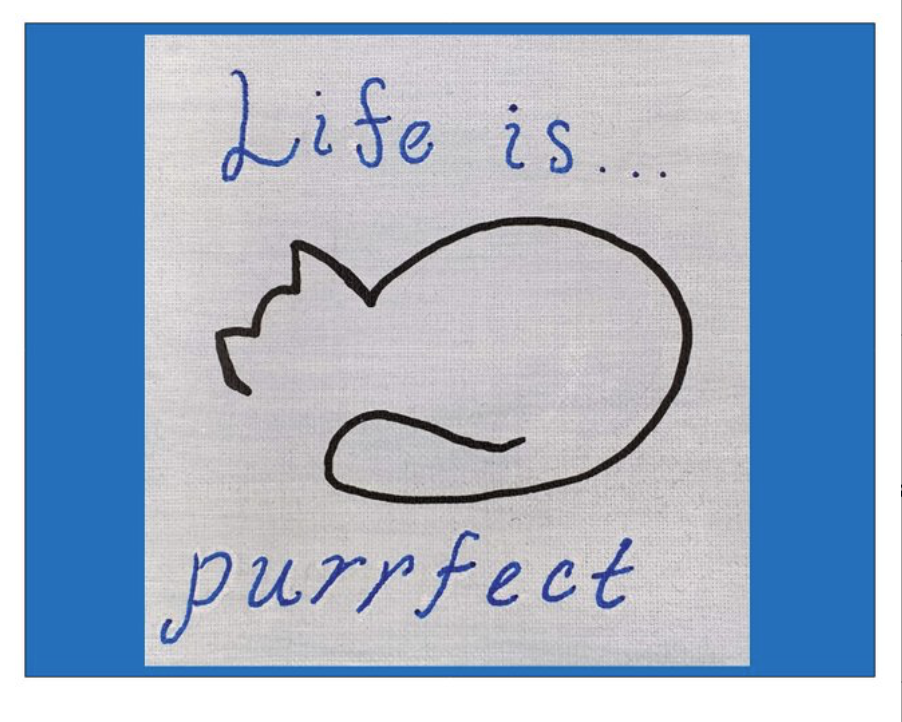 Life is Purrfect Postcard