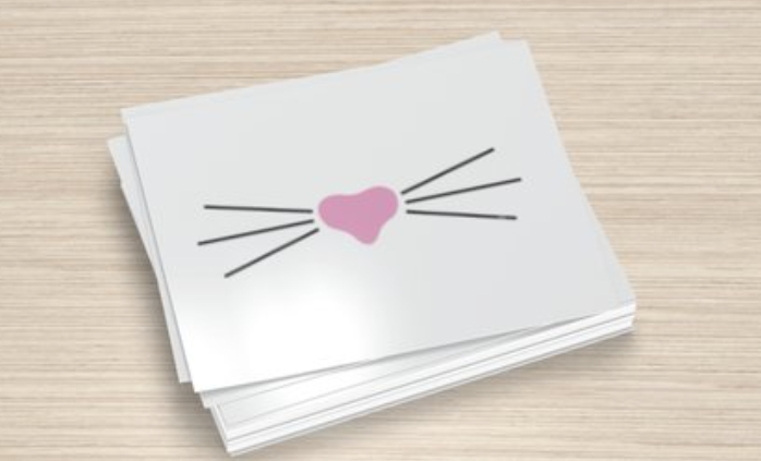 Mr. Whiskers White Postcards