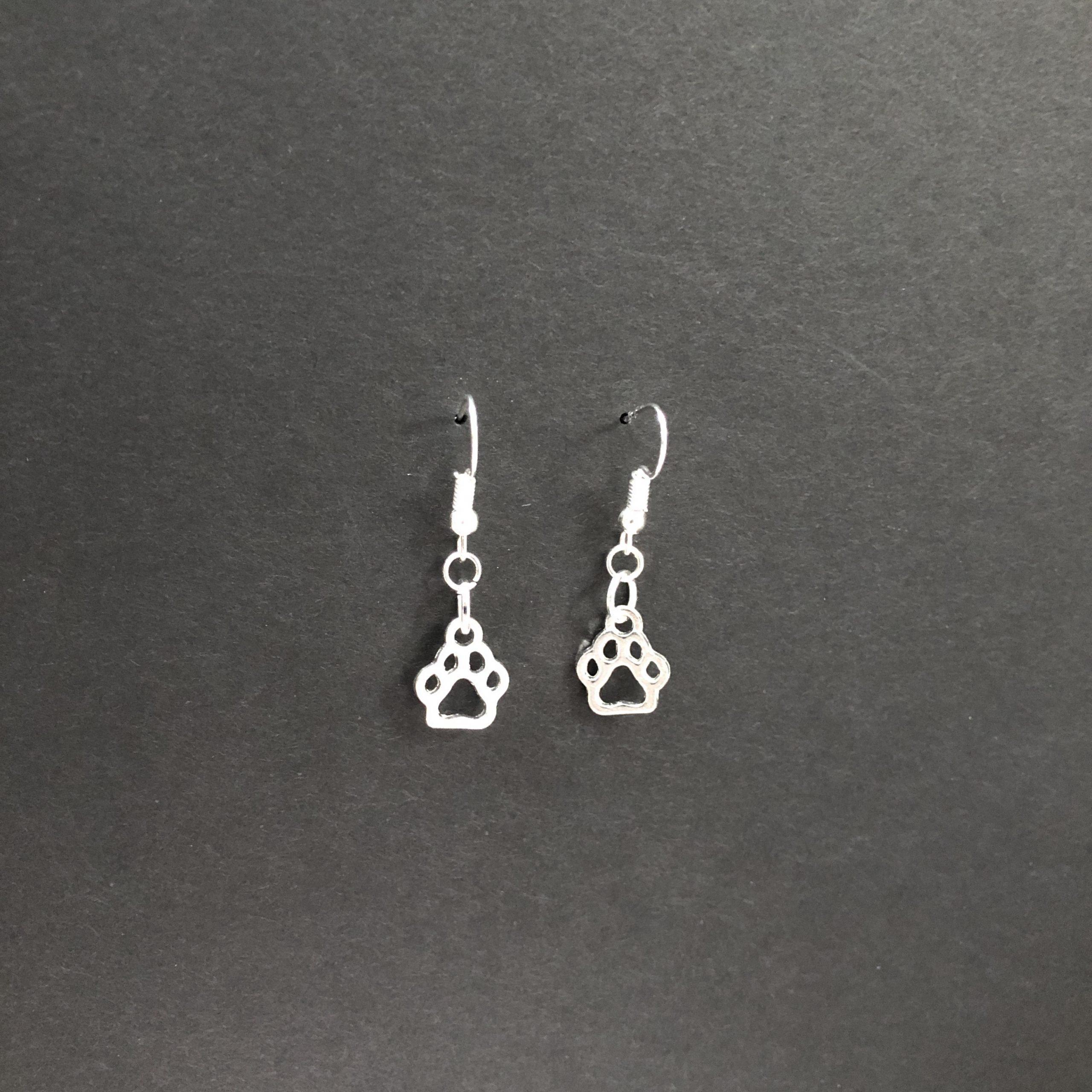 Mr. PawDangle Silver earrings