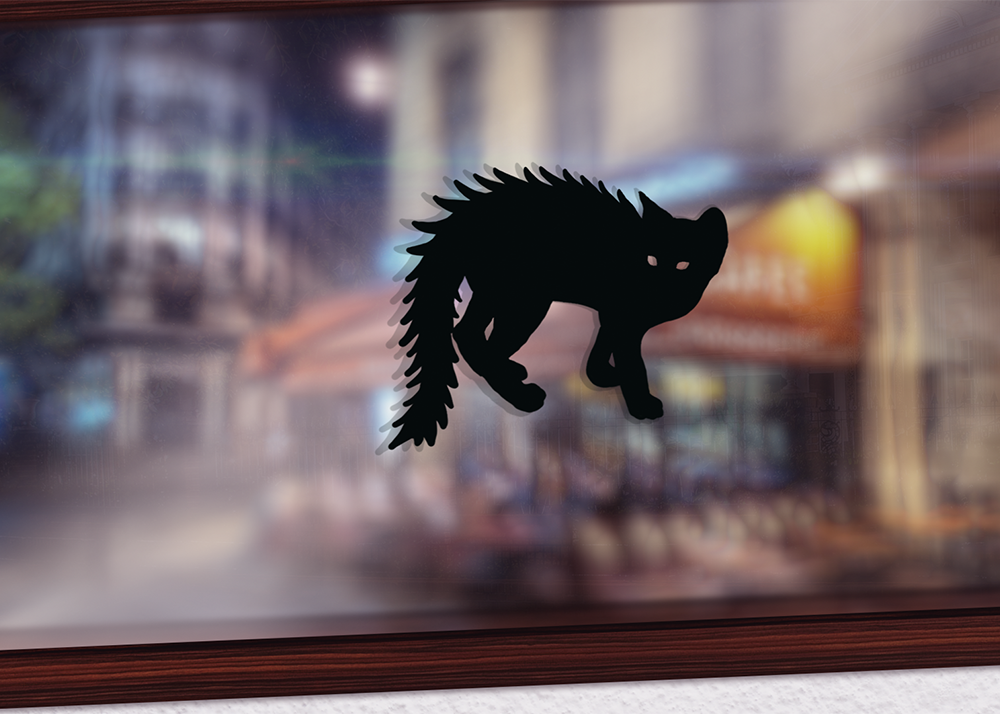 Scaredy-Cat window decal