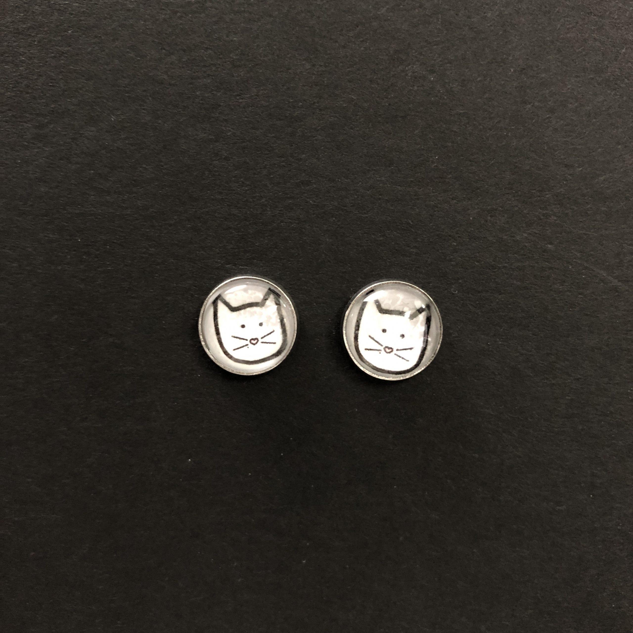 Stick Kitty earrings