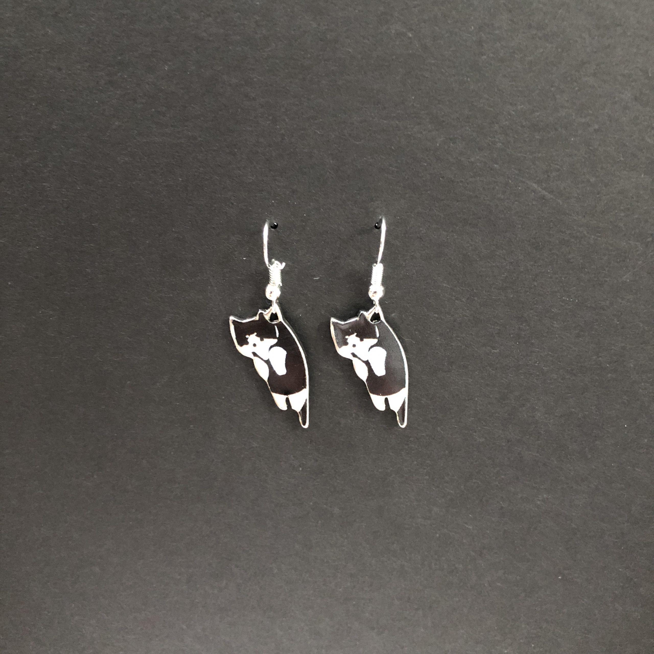 Tuxedo Trouble B&W earrings