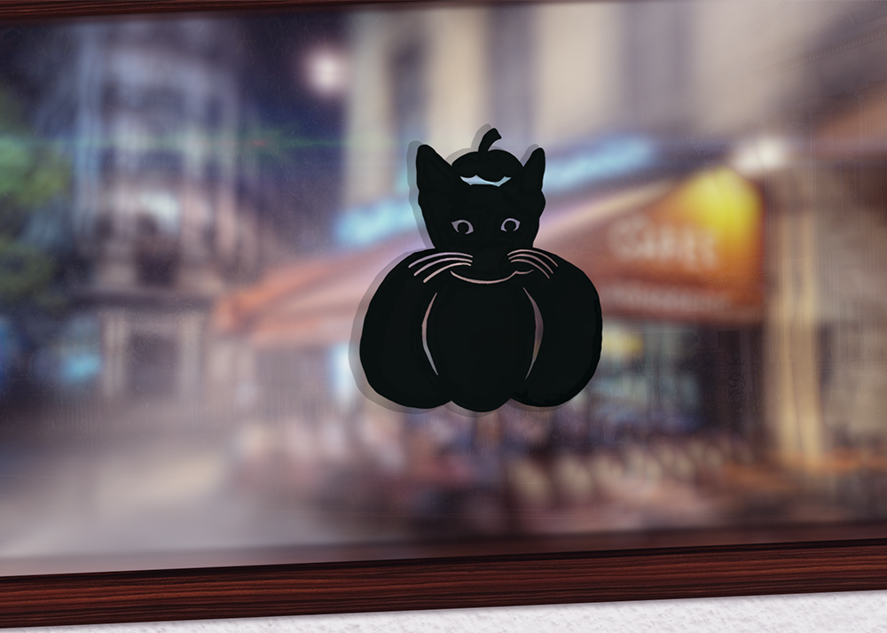 Lil' Pumpkin Kitten decal
